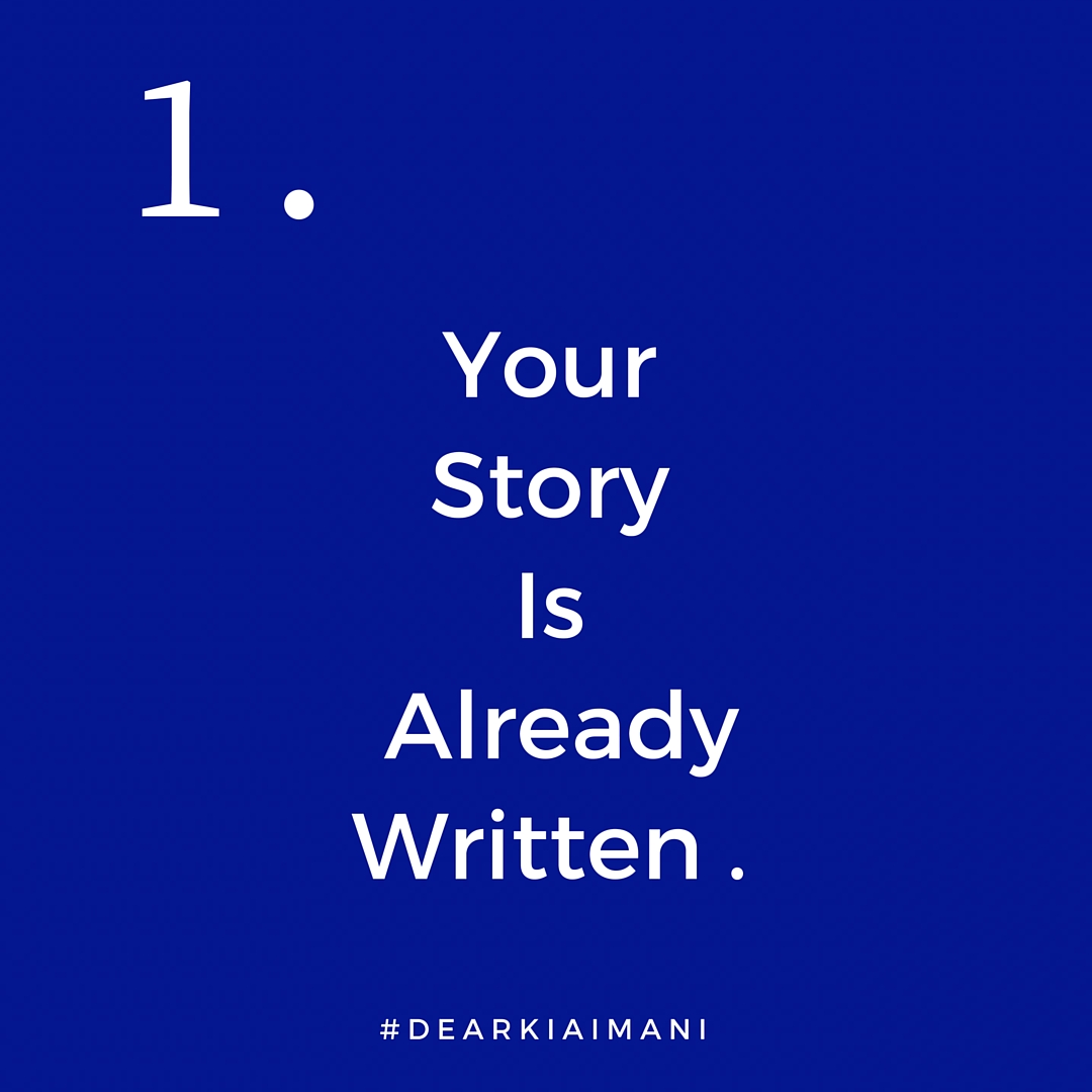 1.#DearKiaImani, your story is already written and it was written way before your first breath. Your steps are ordered and everything is according to a divine purpose and plan. This entire college experience happened exactly the way it was supposed to. Every high and Every low. It was all intentional. 💙⚓️