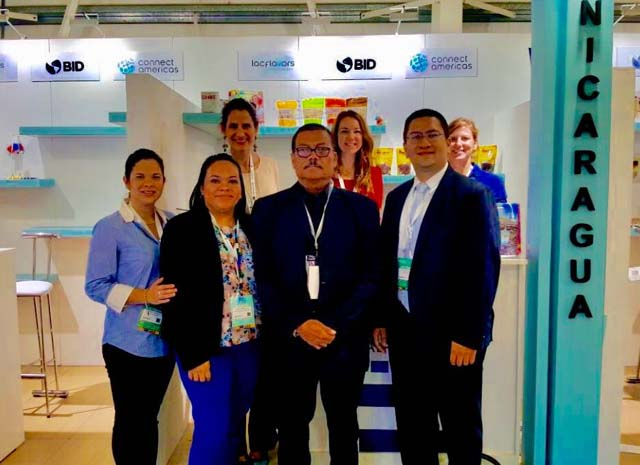 Nicaraguan Companies in Booth with Ambassador