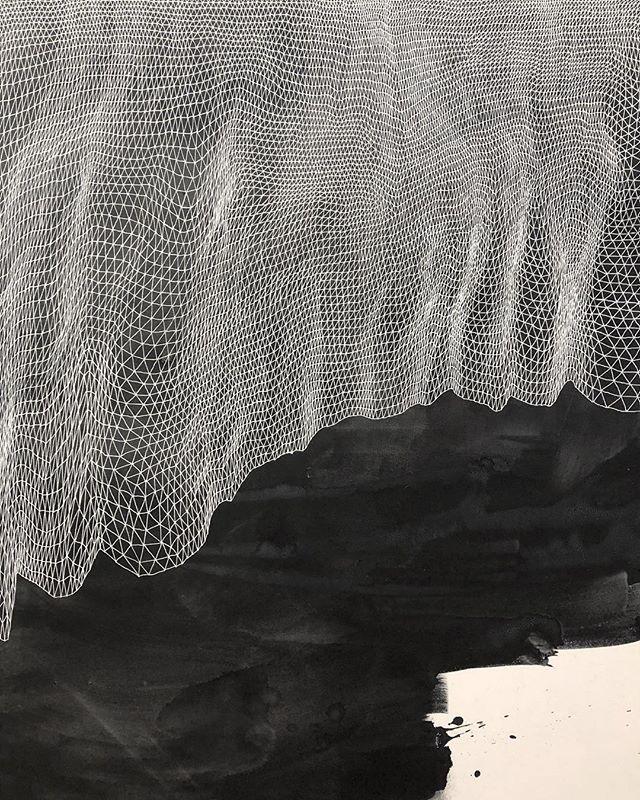 Veil  #tessellation #tessellate #triangle #art #brooklynart #artist #milkyway #firmament #stars #brooklynartist #nycart #nycartist #williamsburgartist #abstractart #abstractartpainting #abstractartist #lines #line #lineart #blackandwhiteart #mountains #terrain #diamond#instaart #instagood #artforsale #artforsalebyartist#inkwash#indiaink#ink