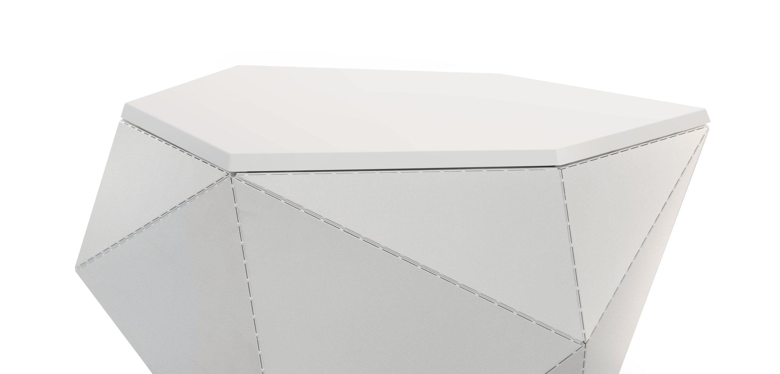 003-002 White Powdercoat - White Solid - Three Quarter.jpg