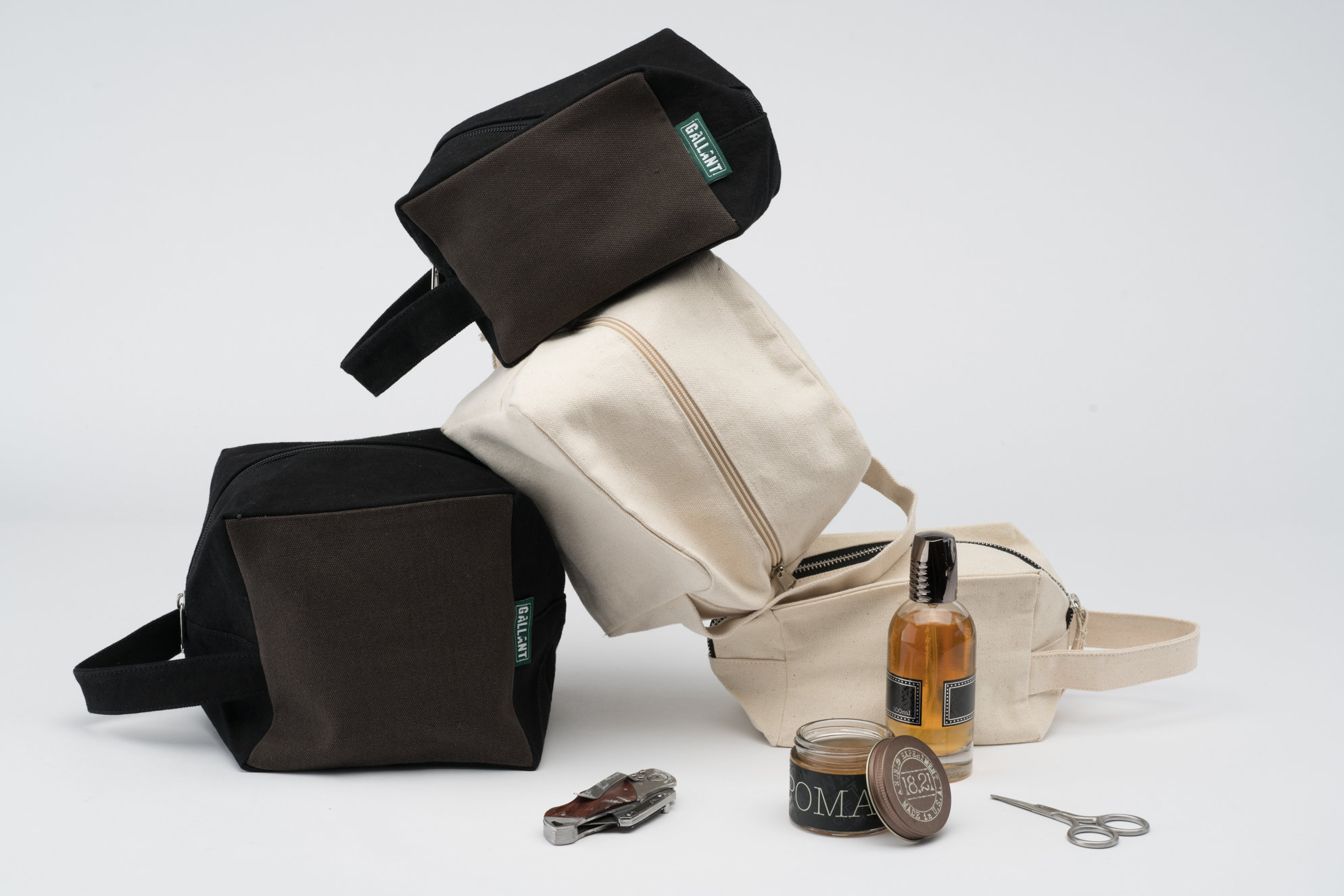Our toiletry bags/zipper pouches are customizable to size, shape, color and more!