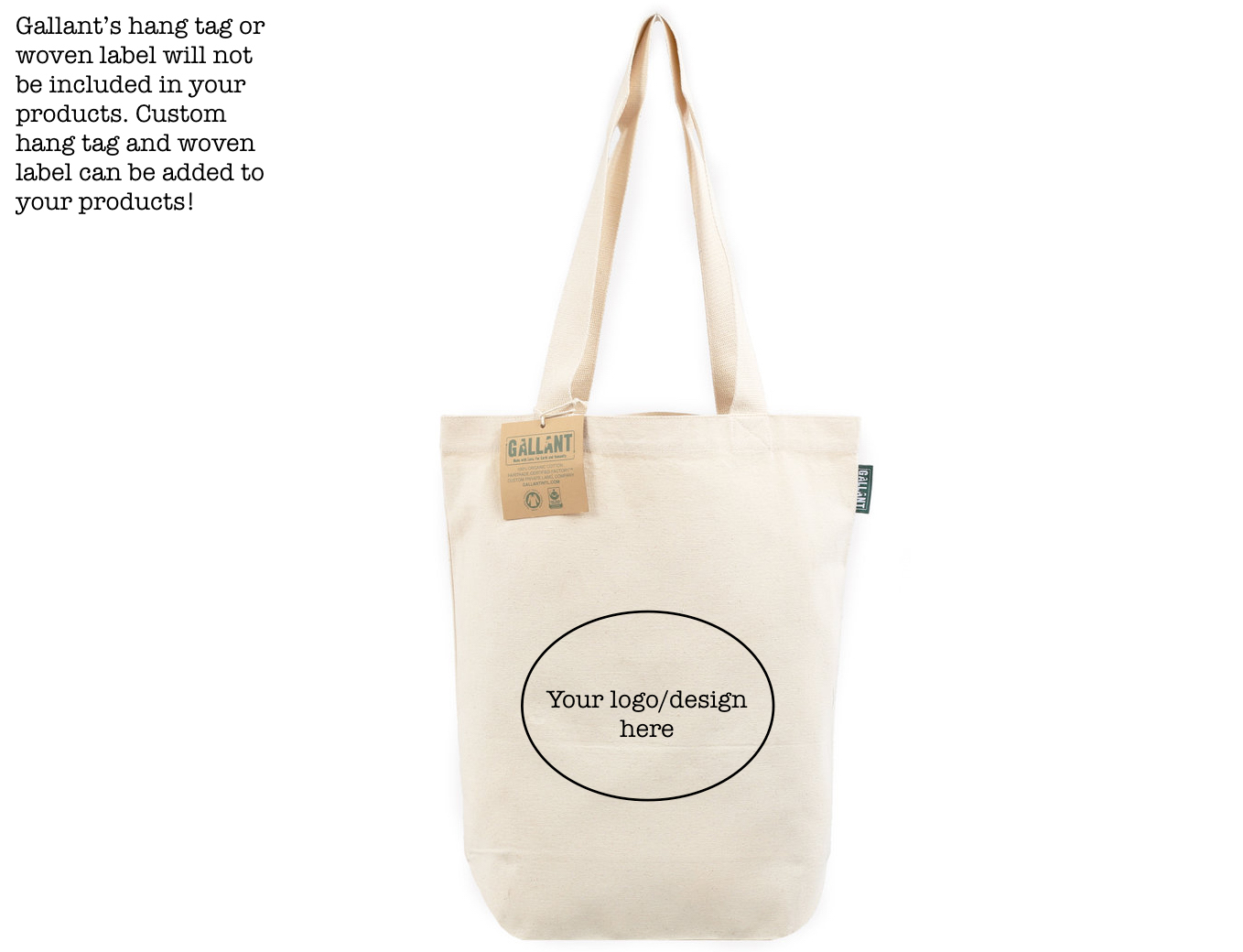 Tote Bags are a great to advertise your brand especially when they are made of organic cotton at a Fair Trade certified factory.