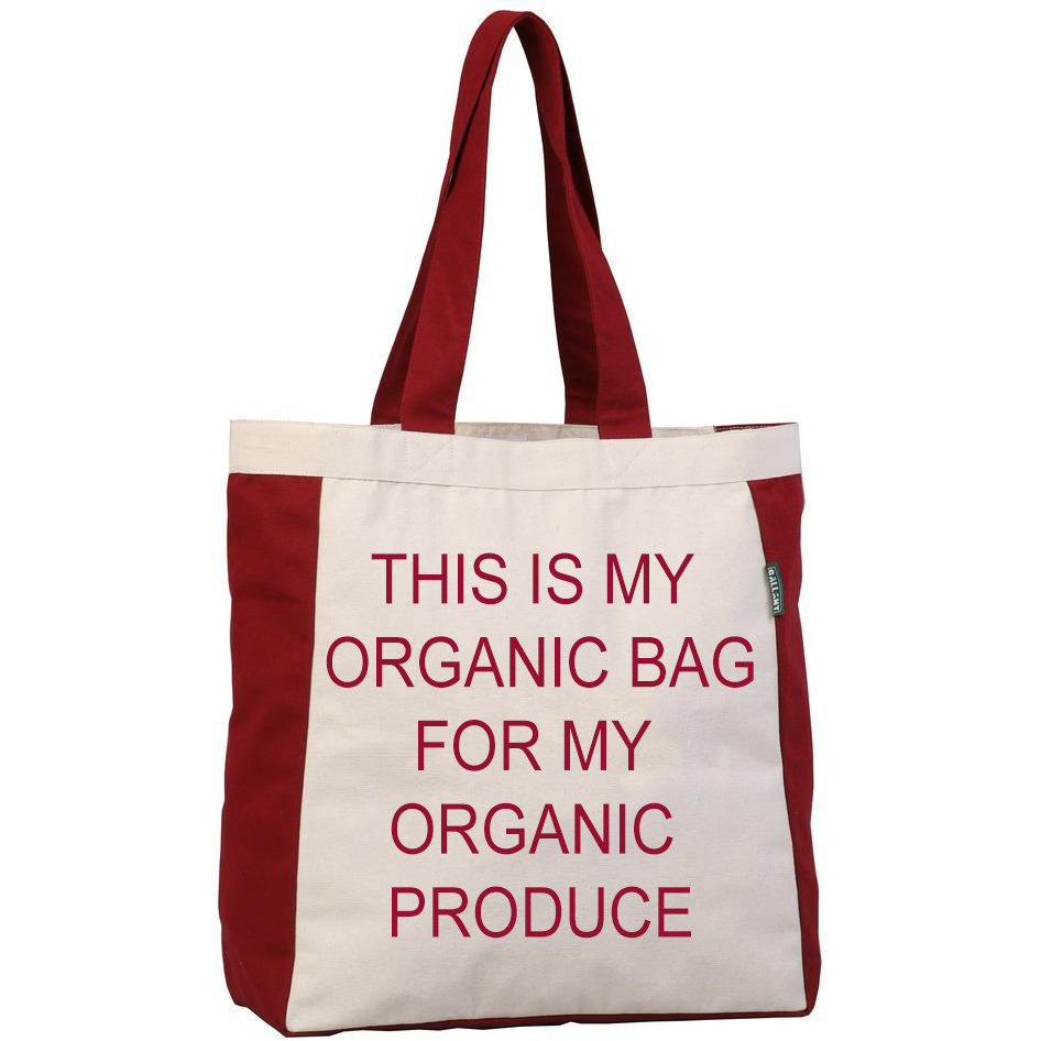 Tote bags are most commonly used as grocery tote bags. Produce Reference #T9