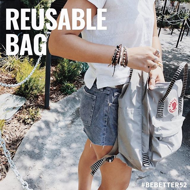 This week's #bebetter52 challenge is to use reusable bags.  Not just at the grocery story but also when packing a lunch or kids snacks. Notice all the times you grab for a ziplock bags and quickly throw it away after one use.  By using a reusable bag you will help limit plastic bag waste, thereby decreasing the pollution of our planet. . . #noplastic #reuseablebag #bebetter #enviornment #nowaste #zeroplastic #maternalhealth @everymomcounts #everymothercounts