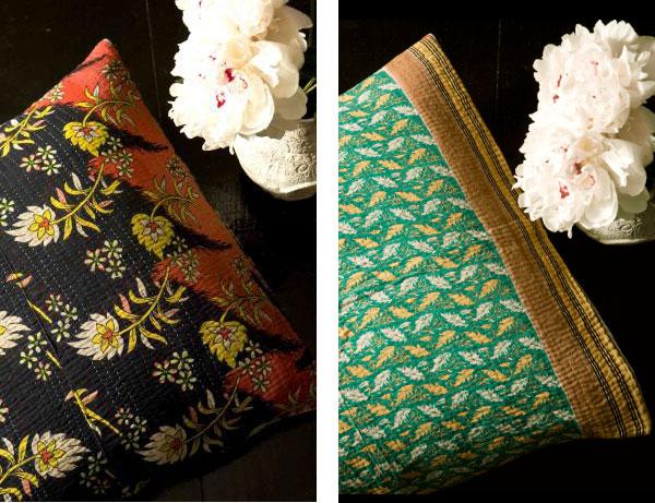 kantha-pillows