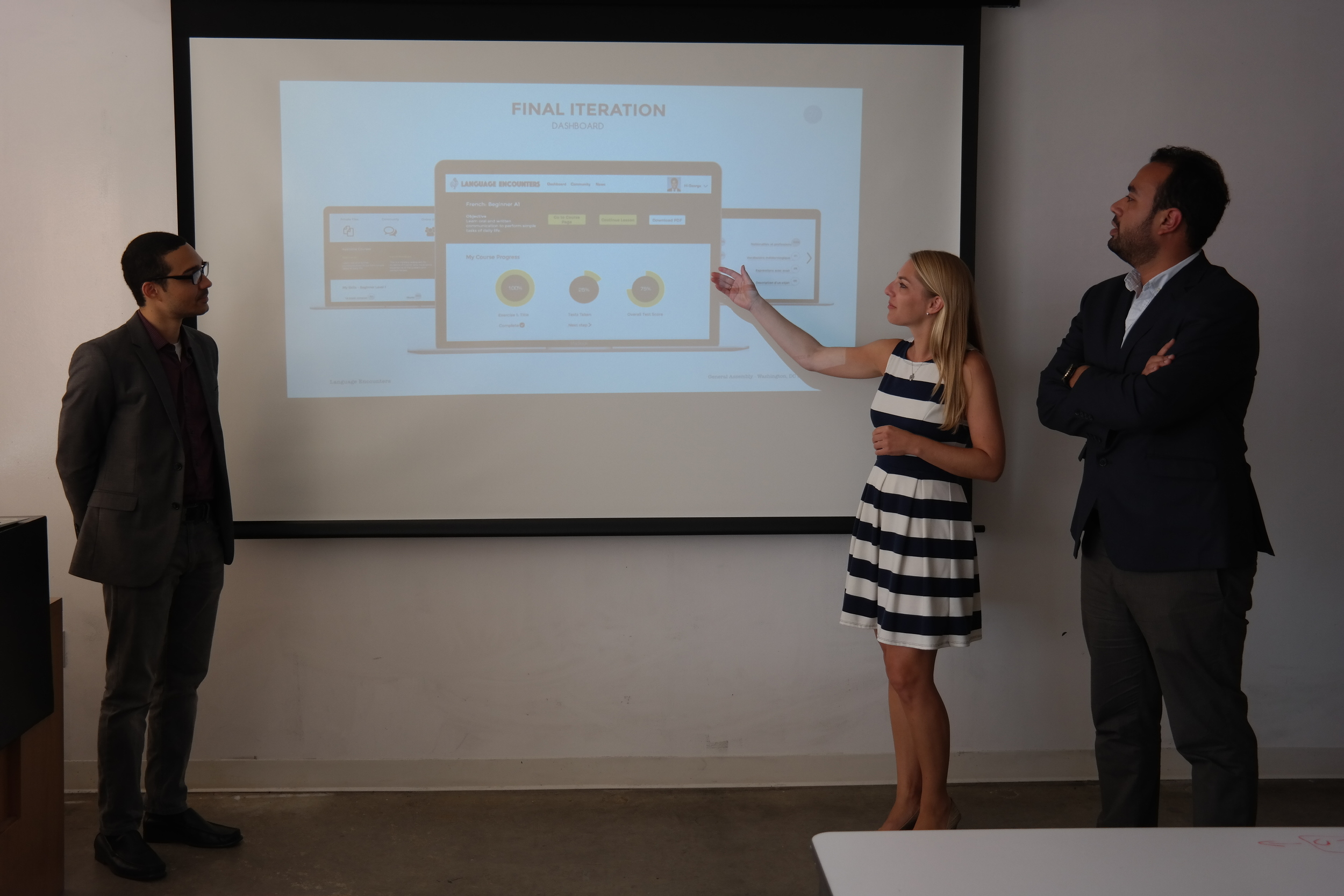 Team snapshot during our client presentation.