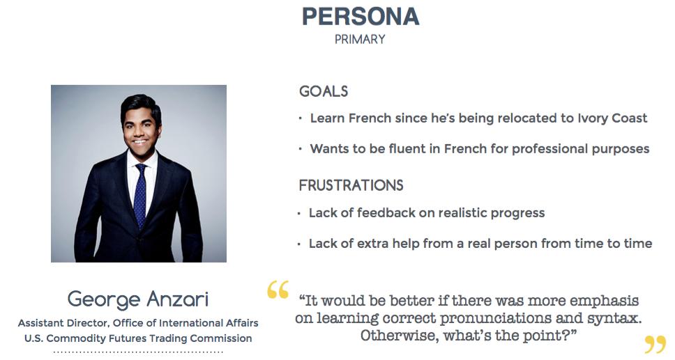 Primary persona