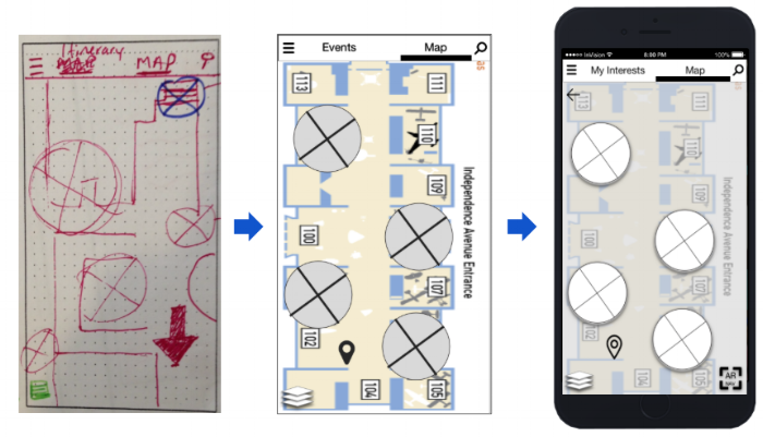 Map iteration process from sketch to prototype