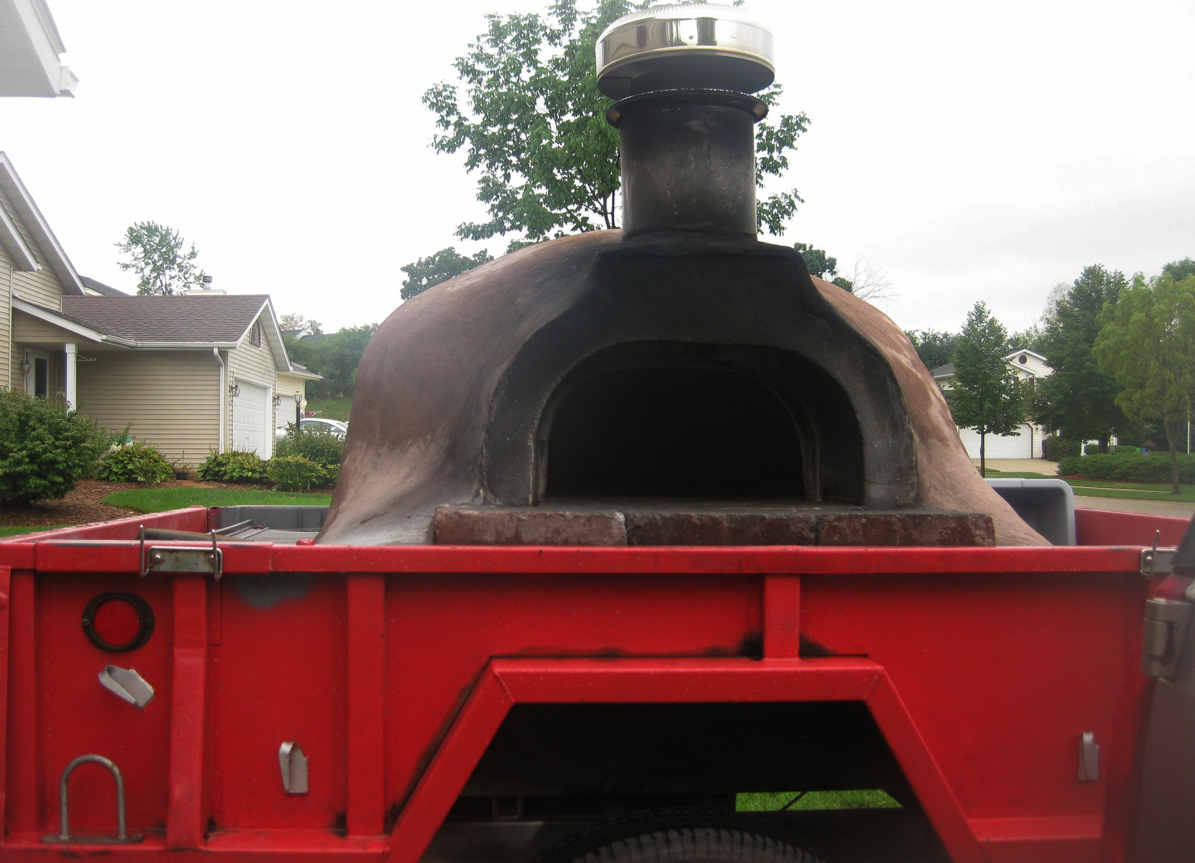 First pizza oven the 3 brothers built in 2010