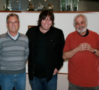 WITH THE MASTERS - LEE WITH THE LEGENDARY PAIR AL SCHMITT AND THE LATE DOUG SAX at a Mastering Session at the Mastering Lab in Ojai CA