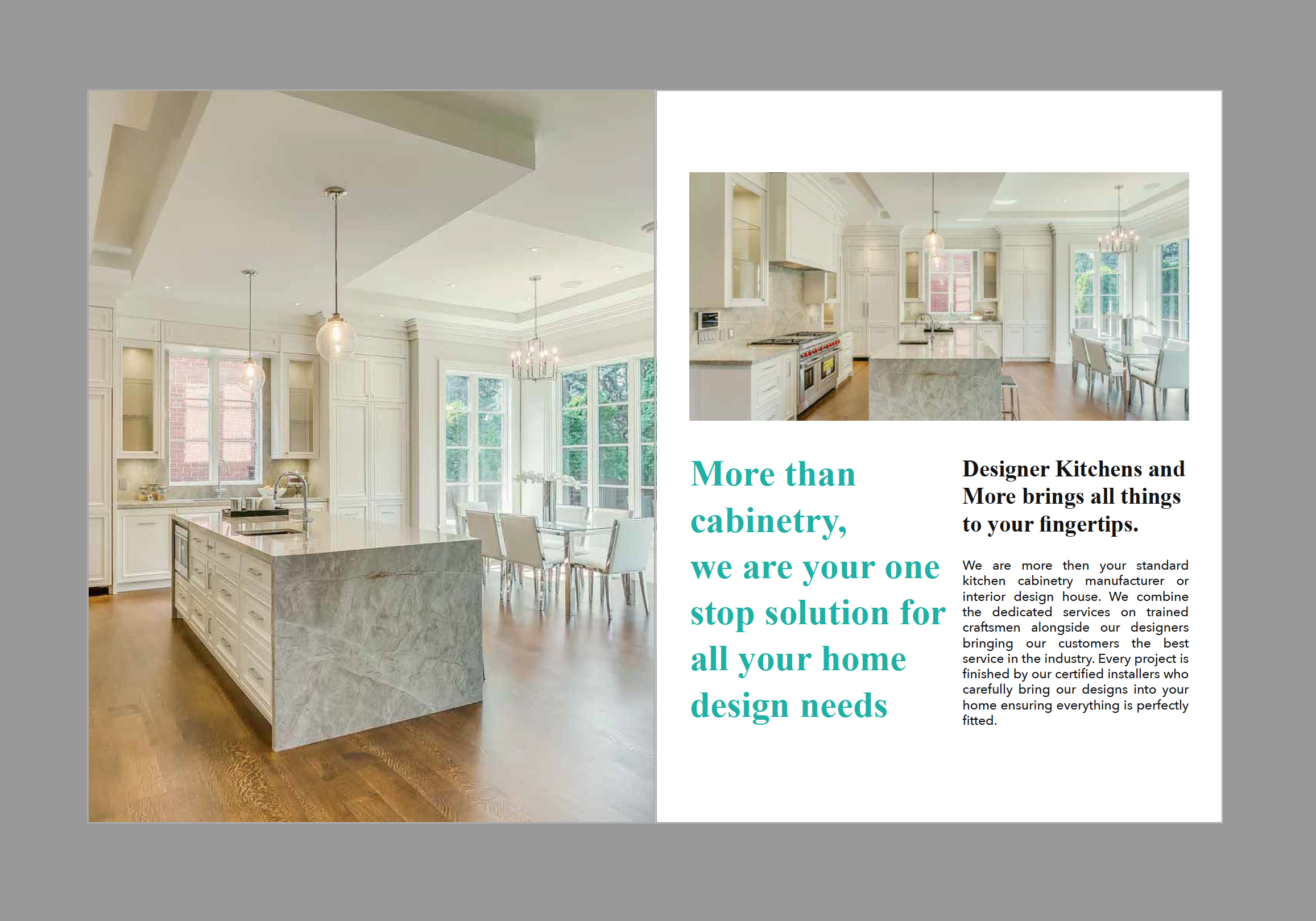 AWARD WINNING DESIGNERS - Tatjana's team of kitchen specialists are dedicated to bringing your kitchen dreams to reality. Below are some of our recent projects and favourite designs.