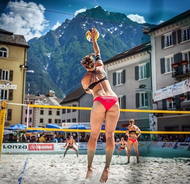 Name: Dunja @dunjagerson  Years Played: 7 years beach volleyball (start 2010) & 9 indoor (end 2015) Hometown : Bern Switzerland Team: Swiss National Team Uniform # 2 Position: Left side  #theVolleyBlog #humansofvolleyball