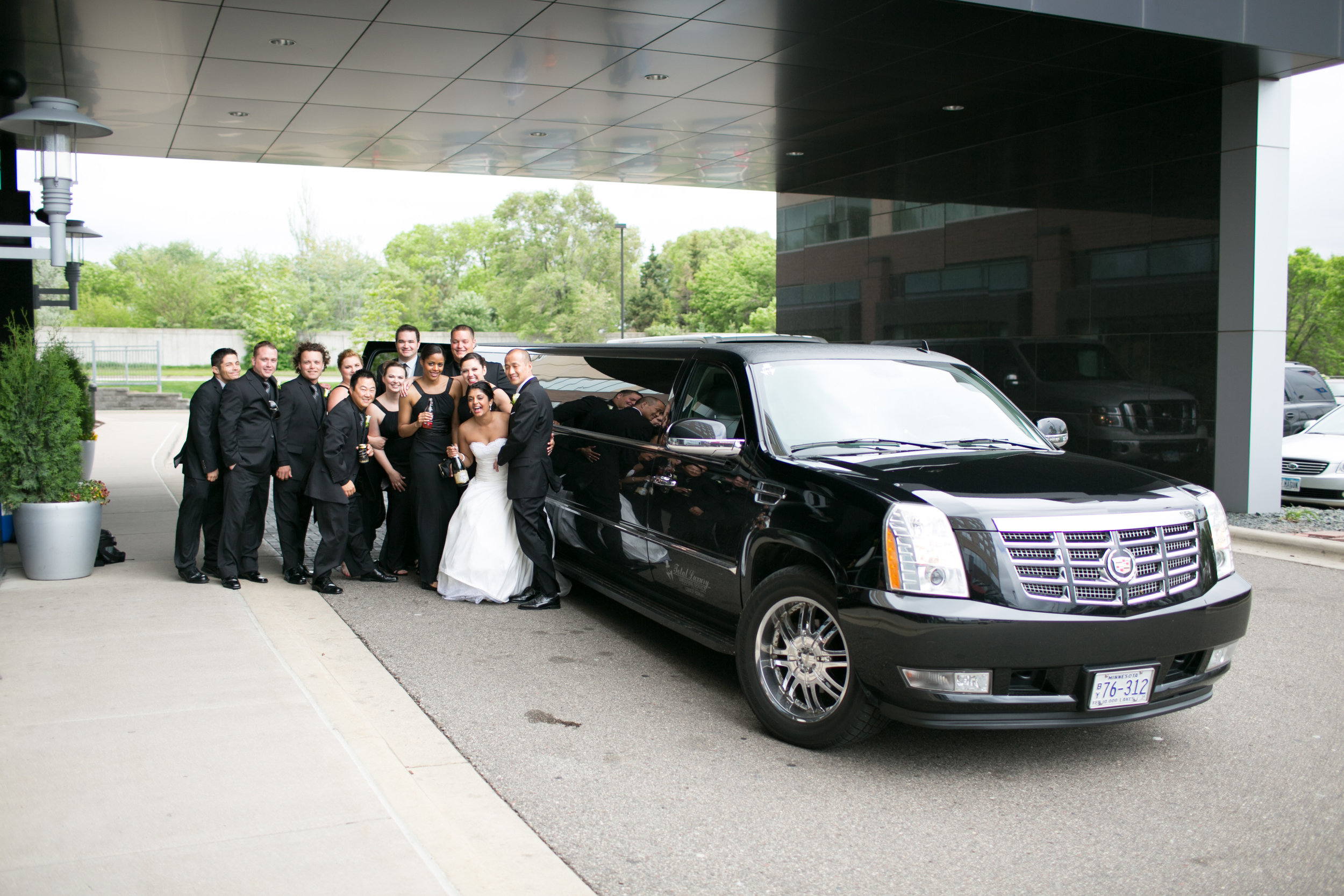 Chauffeured stretch limousines