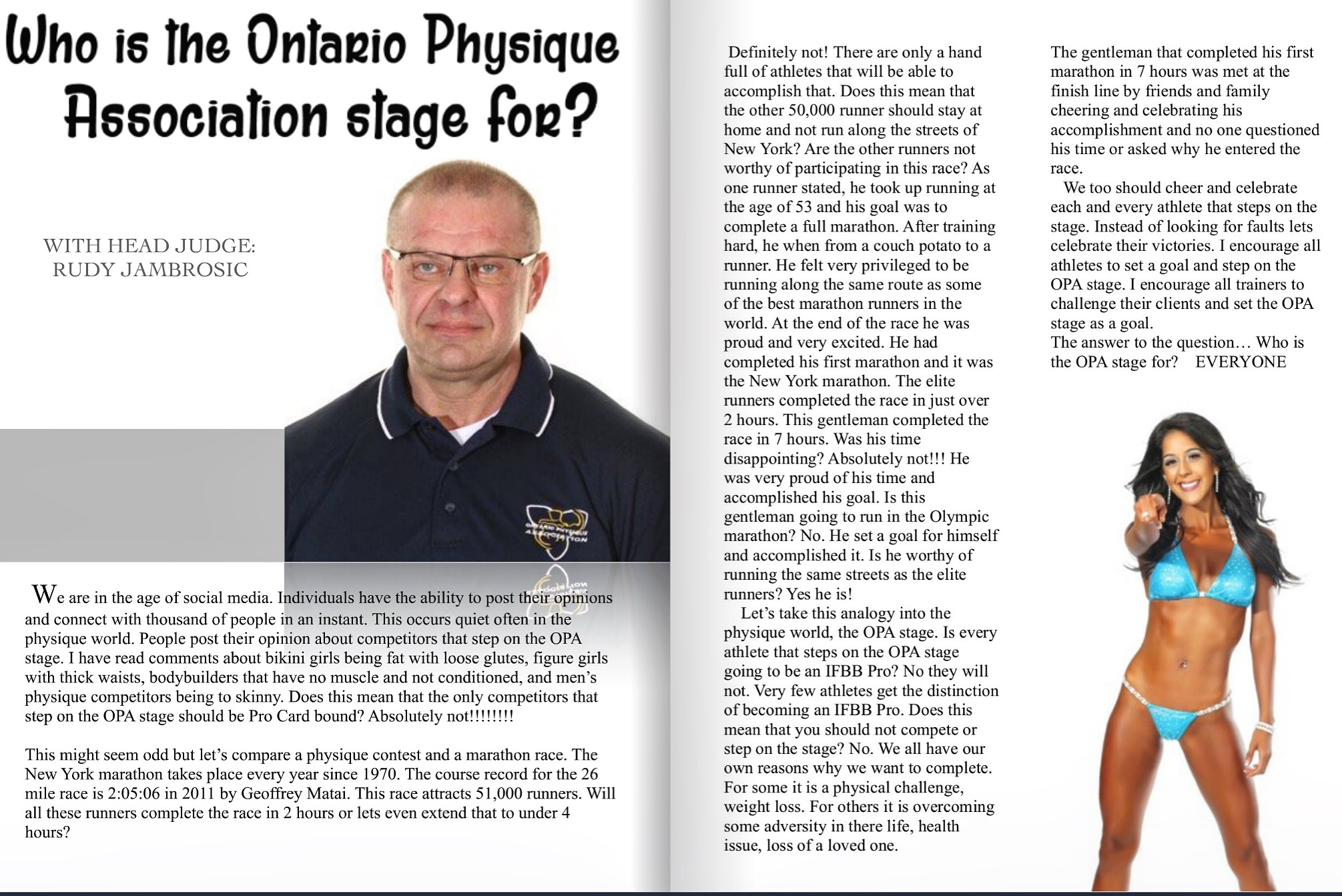 Ontario Physique Association Online Magazine Feature- December 2016