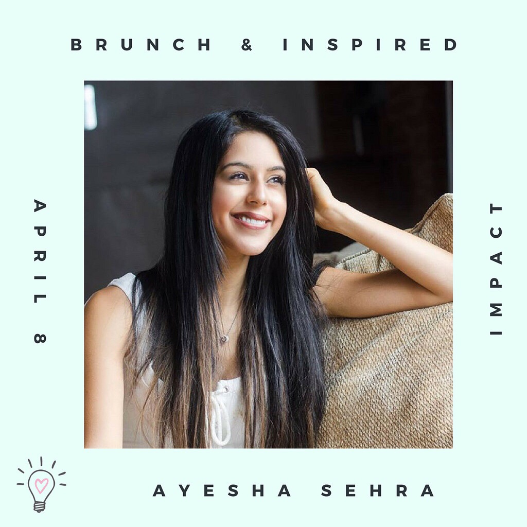 Brunch & Inspired! - Ayesha was a keynote speaker at this event and led an inspiring talk about how to overcome fear to step into the purpose-filled abundant life you are meant to live!Ayesha's mission through speaking is to inspire people of all ages to leave their mark on the world and live their best lives!