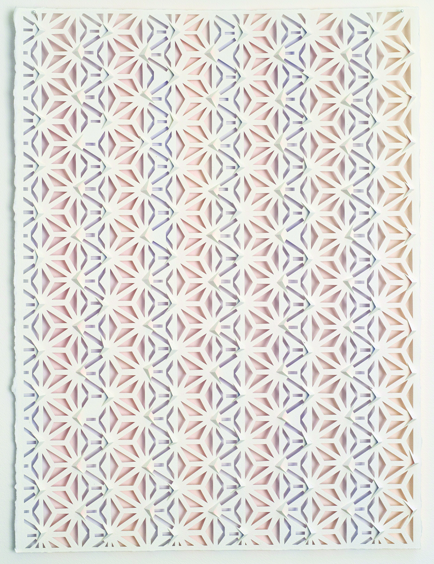 Lee Bethel,  Komon  2018, watercolour on handcut paper, 76 x 54cm. Image courtesy and © the artist.