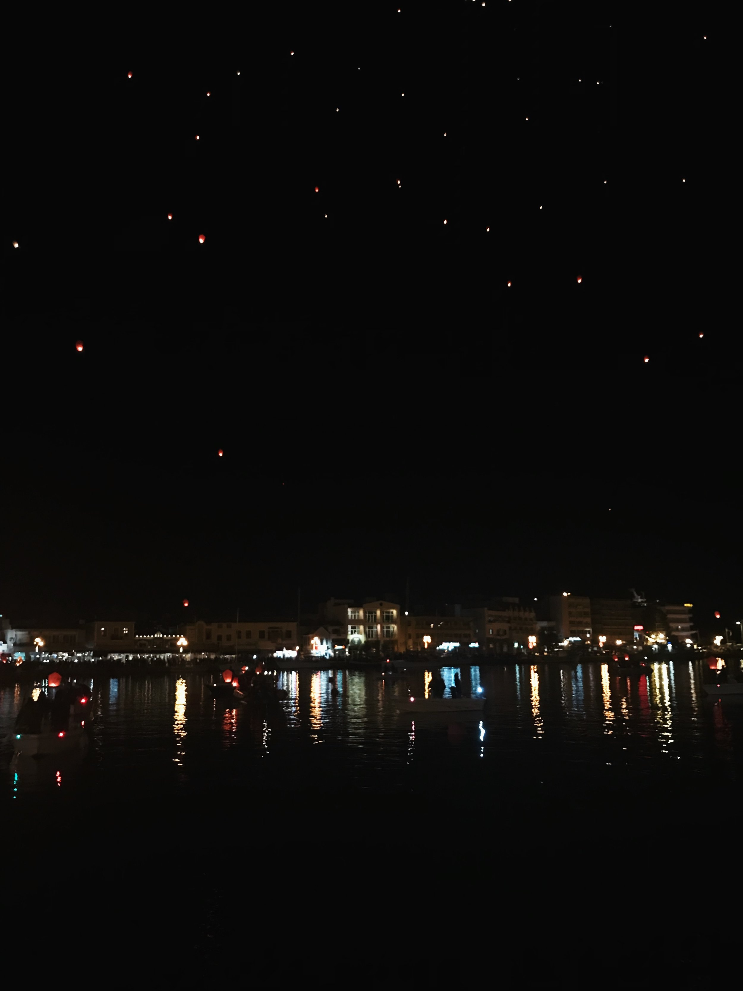 For Good Friday, there was a parade & the sky was filled with lanterns. Felt like I was in Tangled.