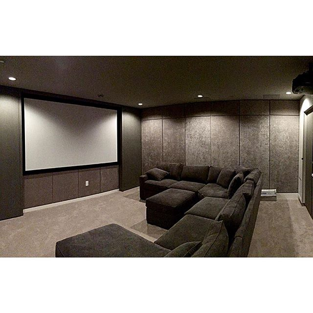 Super Rad Modern theater room we completed for our client. #modernhome #vancity #interiordesign #architecture #luxuryhomes #yvr #design #homeautomation #av #goodlife #hometheater #nofilter