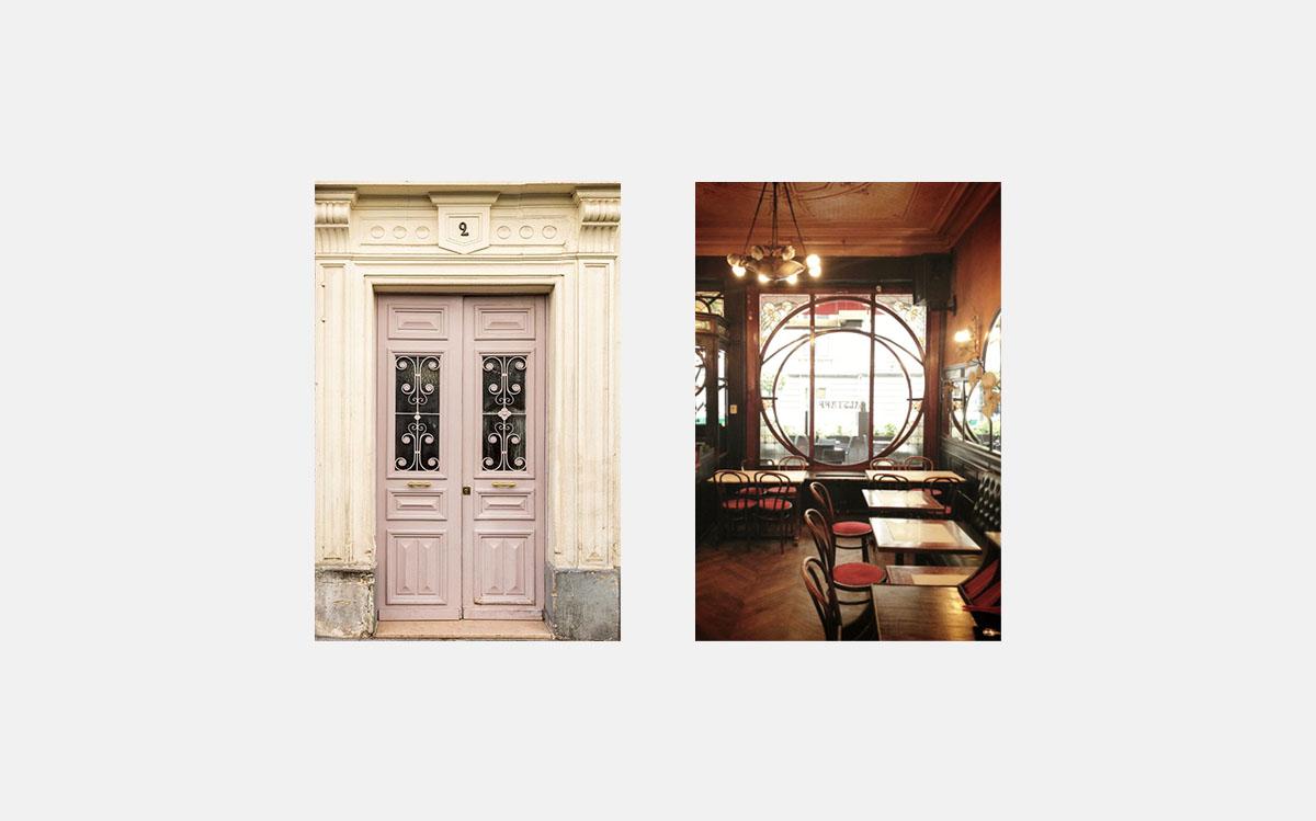 Interior elements: door and window
