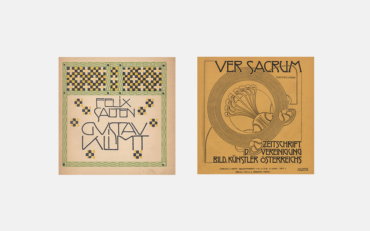 Typeface examples from the Viennese Secession movement