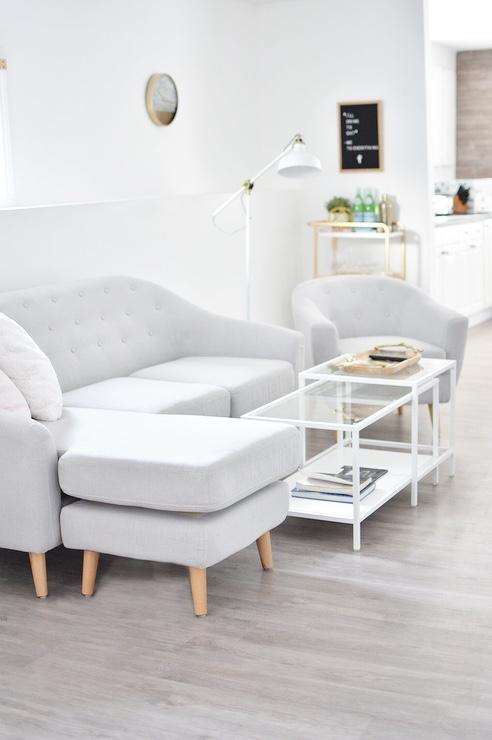 """Coffee table:   """"Vittsjo""""  from Ikea Lamp:  """"Ranarp"""""""
