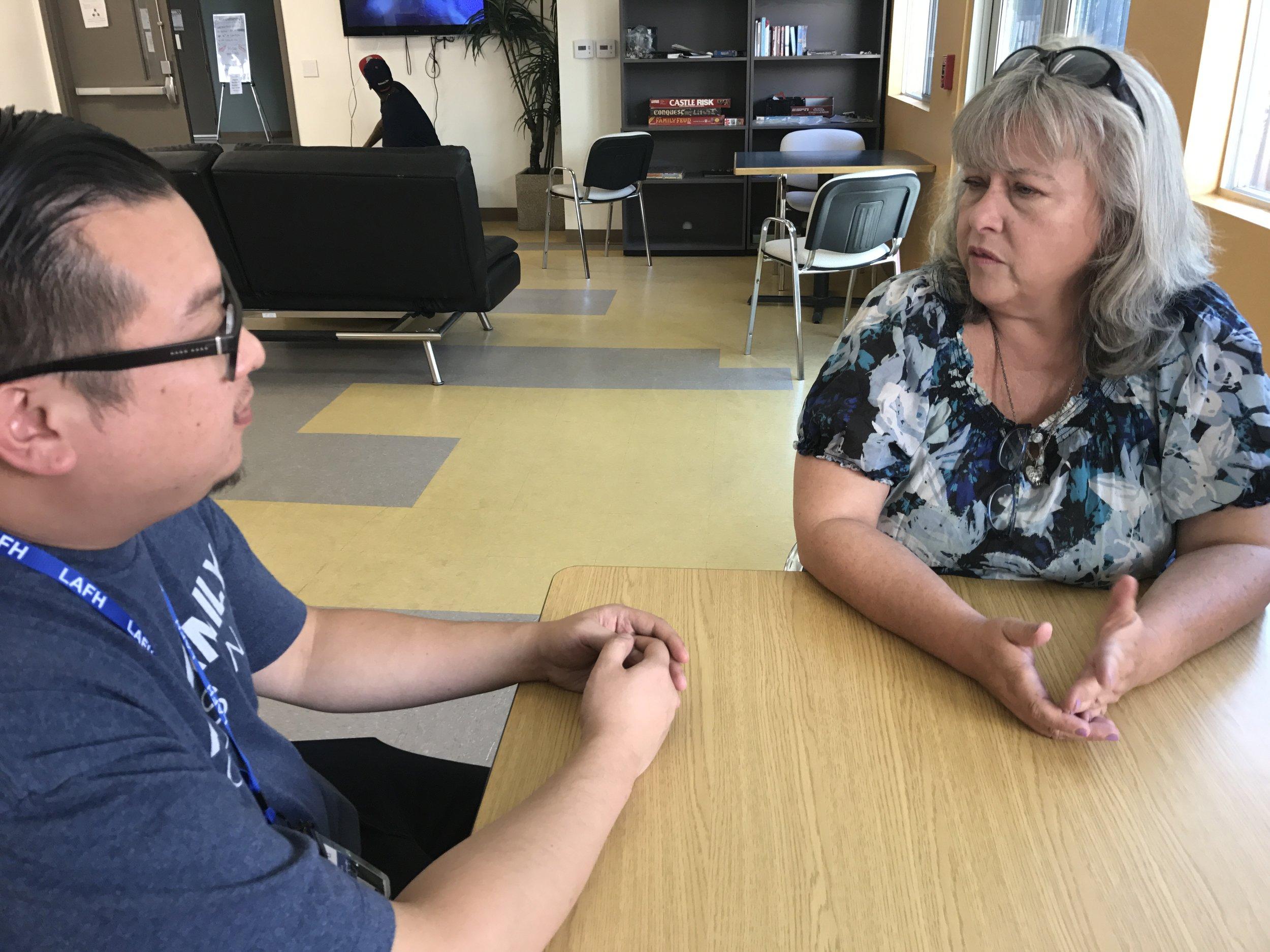 An LAFH client discusses her future after Bridge Housing
