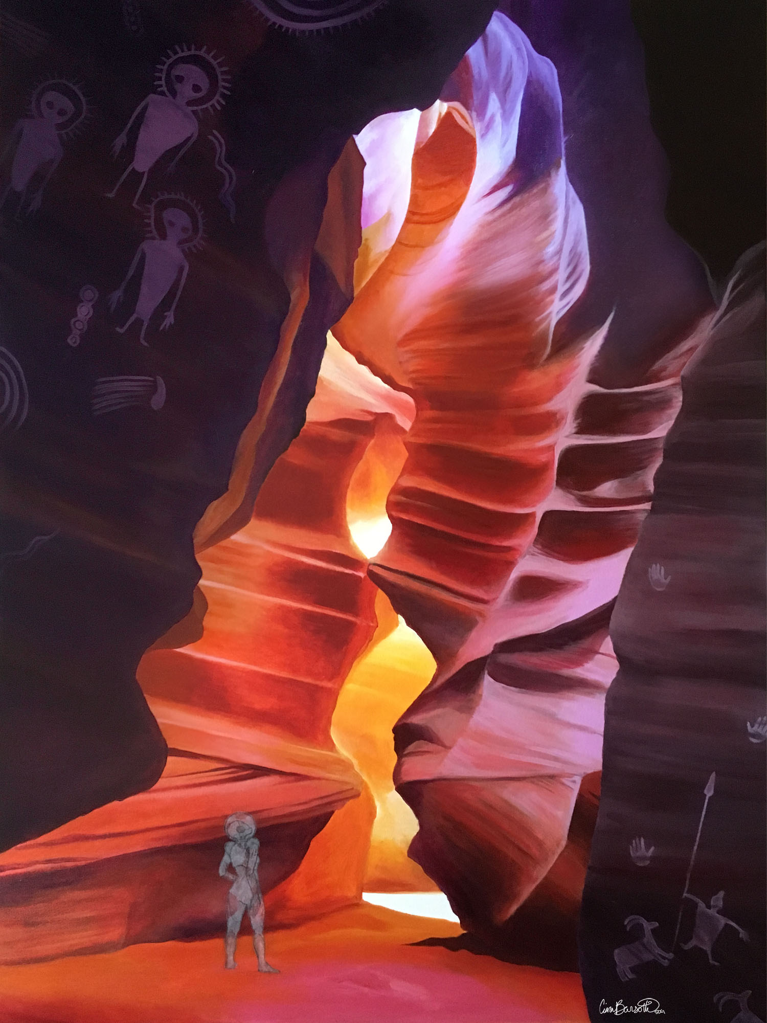 Visitors to Antelope Canyon