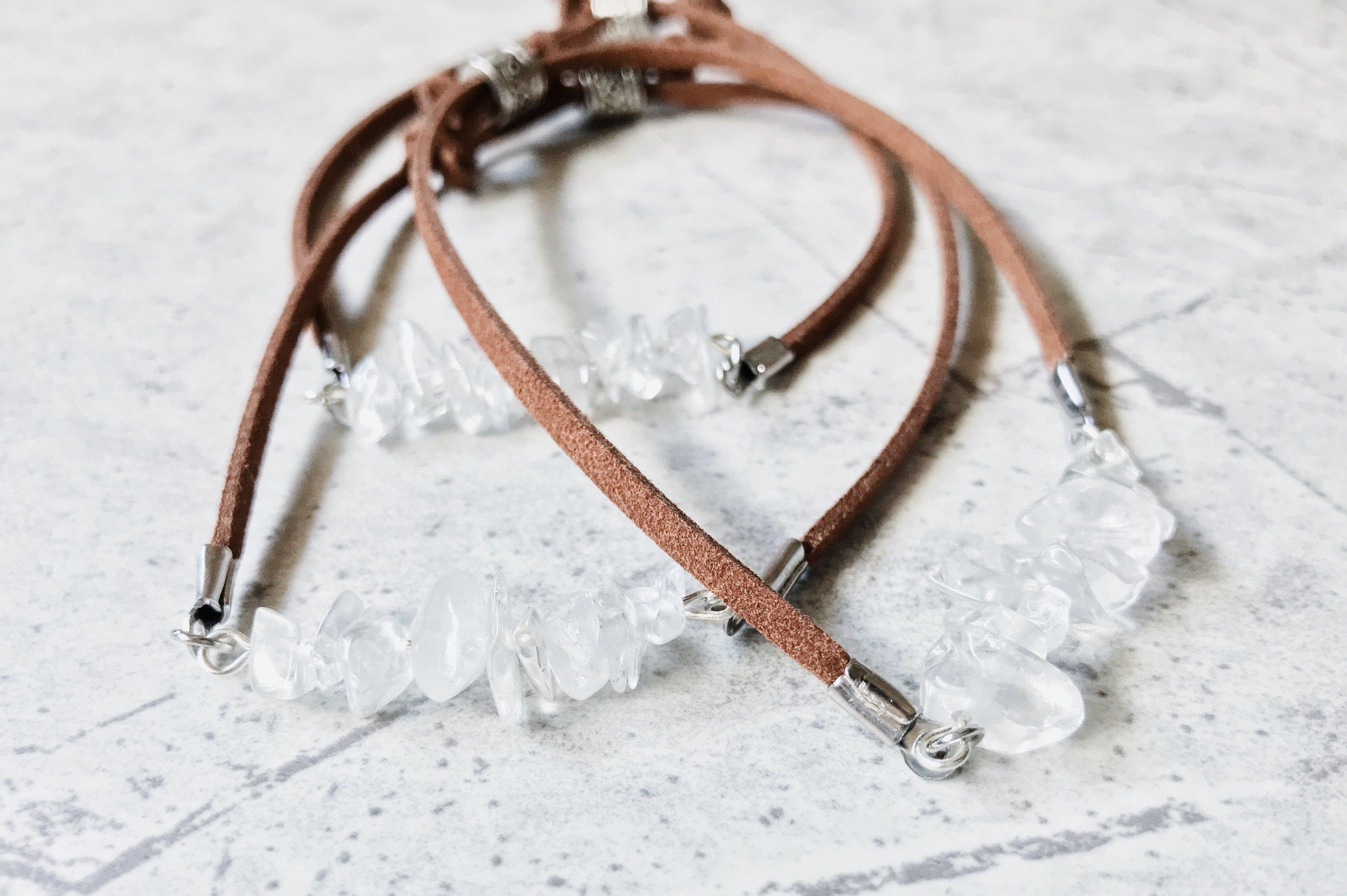 feather and arrow quartz bracelet