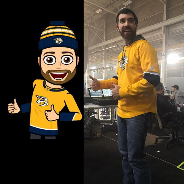 Some days, when rehearsals get really special, Matt Geasey will dress just like his bitmoji character in real life. @clearallvisuals