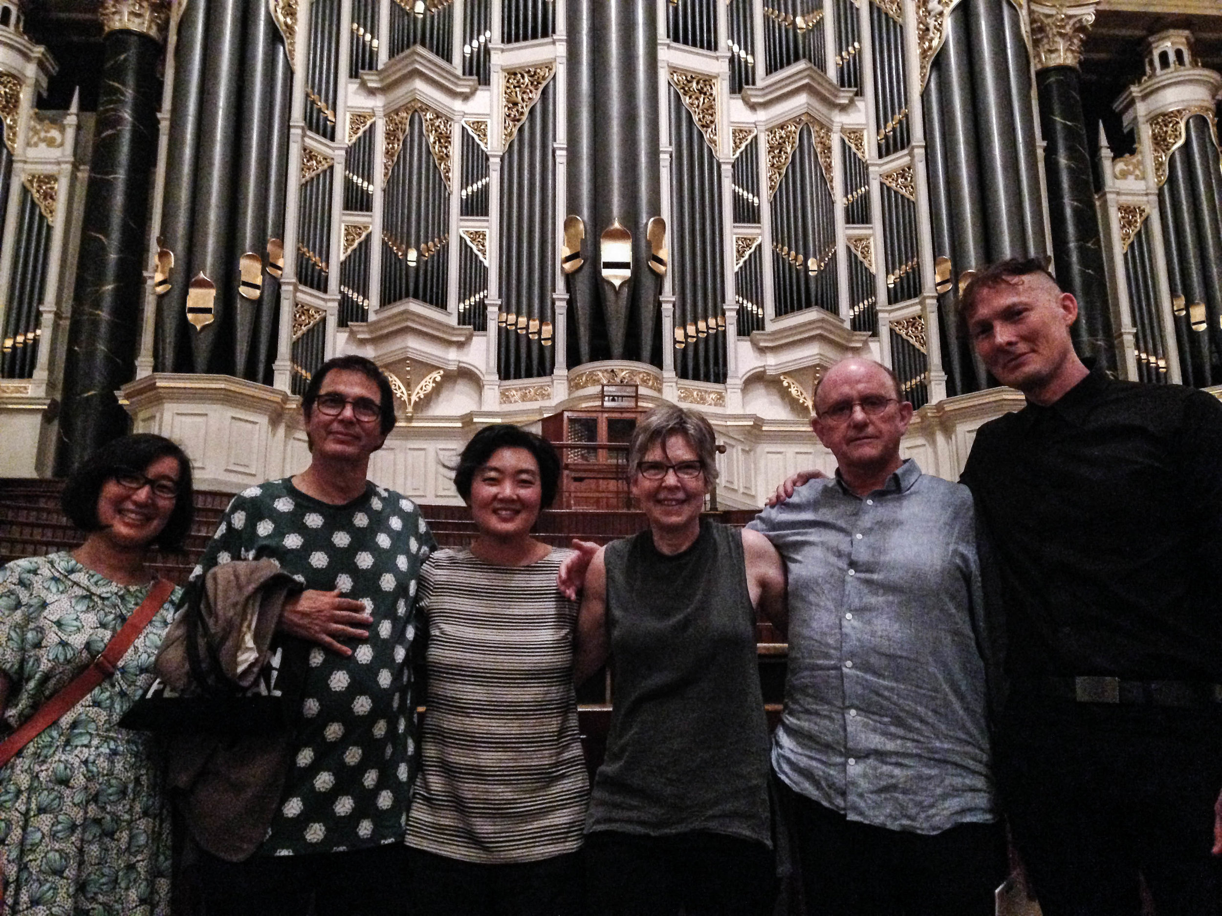 Post concert with Terumi Narushima, Kraig Grady, Chris Abrahams and Lawrence English.