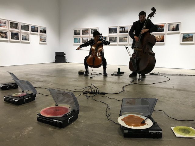 Performing with Jeff Denson to the deliciously beautiful records made by Jon Fischer and Danny Clay for their Turntable Drawings residency at the McEvoy Foundation.