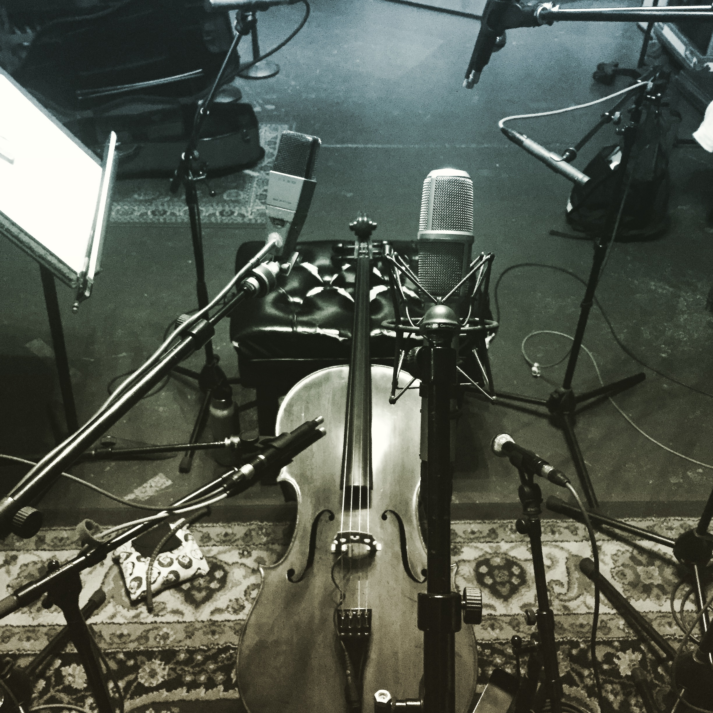 Testing out mics for a solo cello and voice album @ Tiny Telephone Studios, SF w/ Adam Hirsch. More sessions in the works for Fall 2018 - stay (de)tuned...
