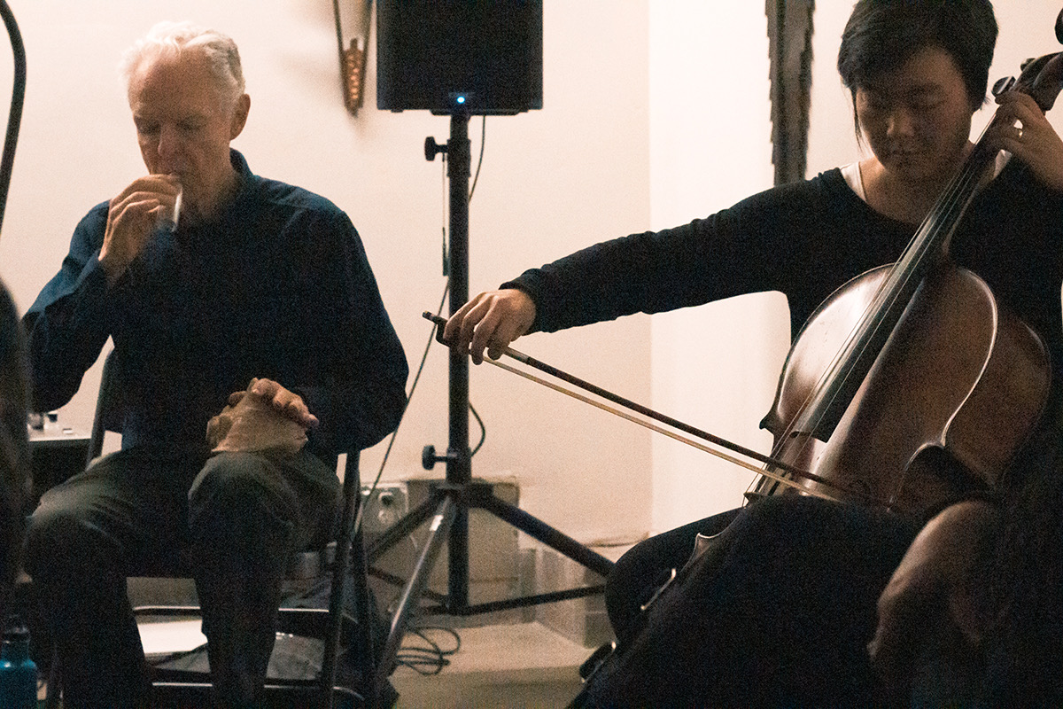 What an utter treat to make music with Stuart Dempster and Ellen Fullman to celebrate the launch of Pink Sea Thrift on  f  o'c'sle ! Remembering David Gamper, the third collaborator on this album and thankful to I.O.U. (Institute Of advanced Uncertainty) in San Francisco for hosting this event.