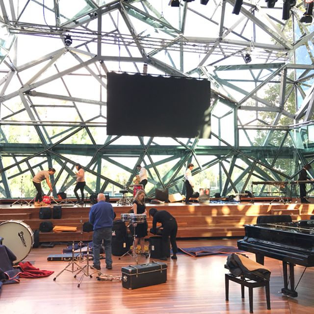 Getting ready for tonight's concert American Rhapsody! Join the #Lawchestra at the beautiful Deakin Square, Fed Square tonight at 7pm!!! Tickets available at the door 🎺🎻🥁🎉🎶