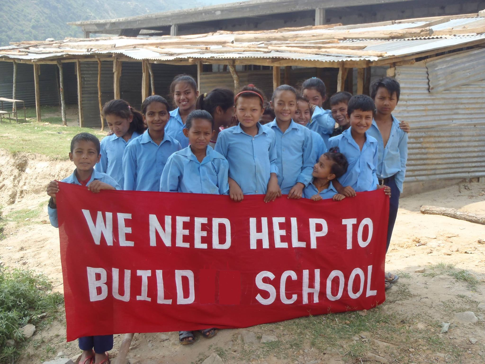 This picture was taken just prior to our first ever classroom build in Nepal in 2015,before the charity was officially founded in 2016. It is an image that has stayed with us and means alot to us.