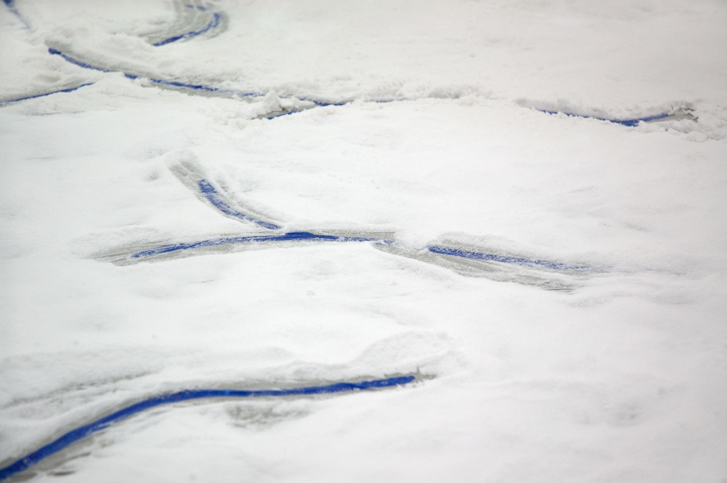 Free Sea, 2014 sea salt, acrylic paint  at  Flake  / Photo Kate Meakin