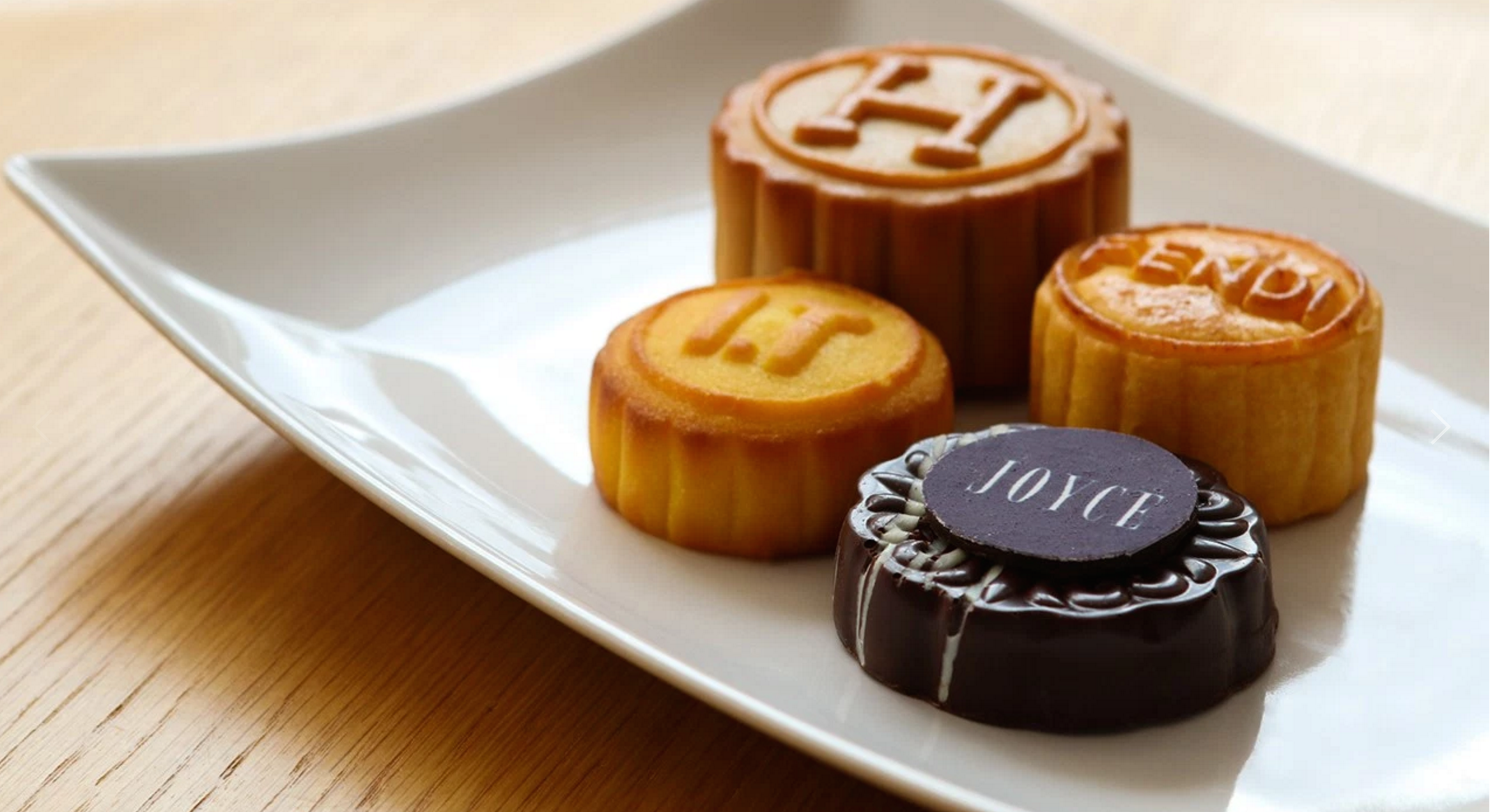 Here are some luxury brands from Hong Kong making splashes in the Mooncake foray. Hermes, Fendi, I.T. and Joyce (Hong Kong's version of a high end Barney's)