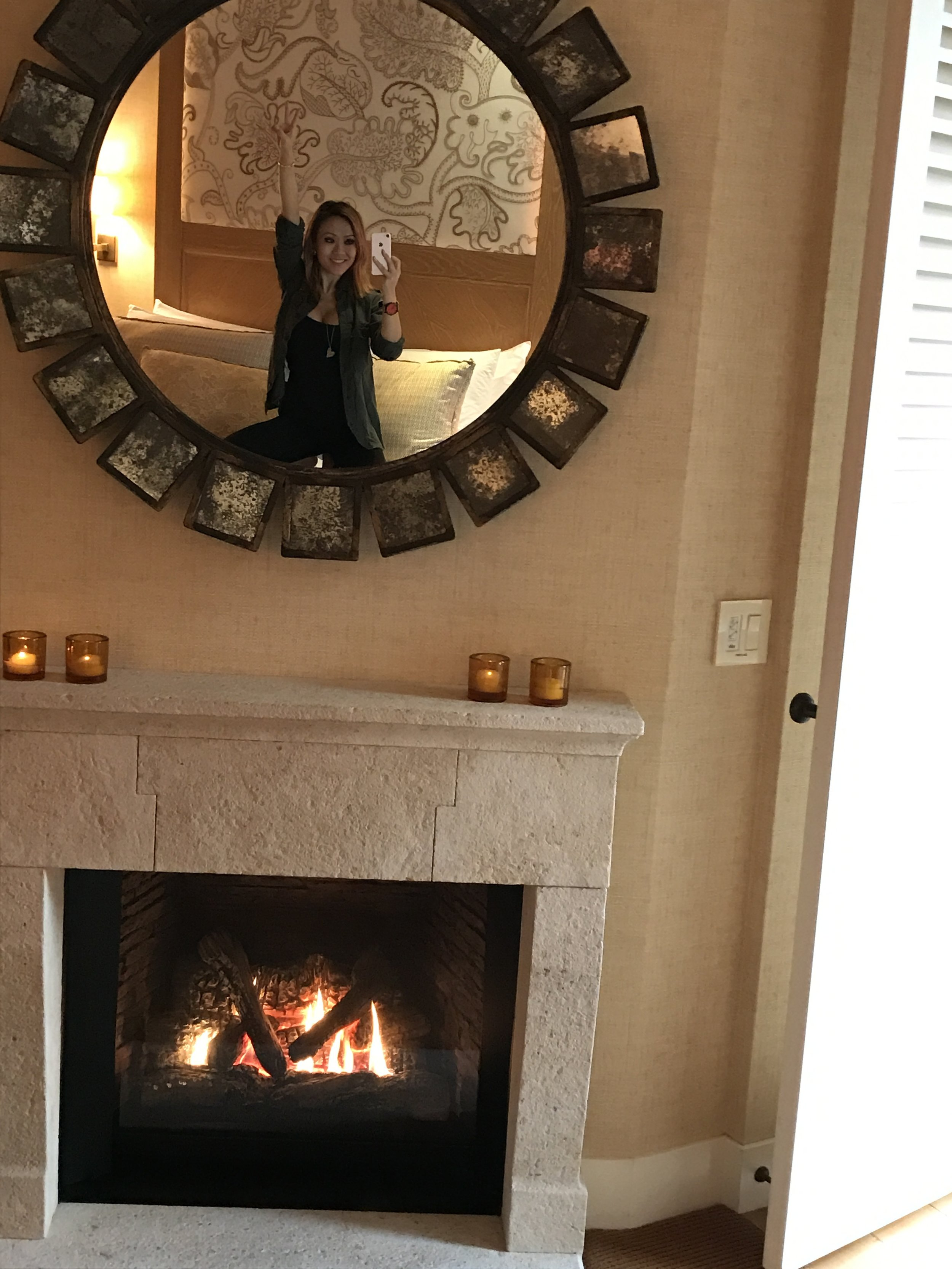 Excited about the fireplace in our room:)