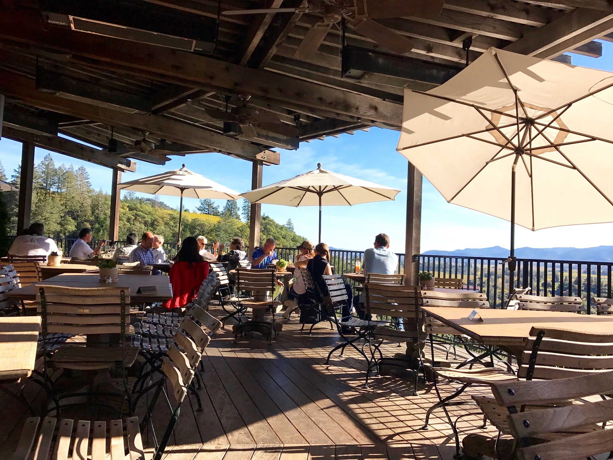 Enjoying this veranda during lunch: The bistro is casual and perfect for a lazy peaceful meal.