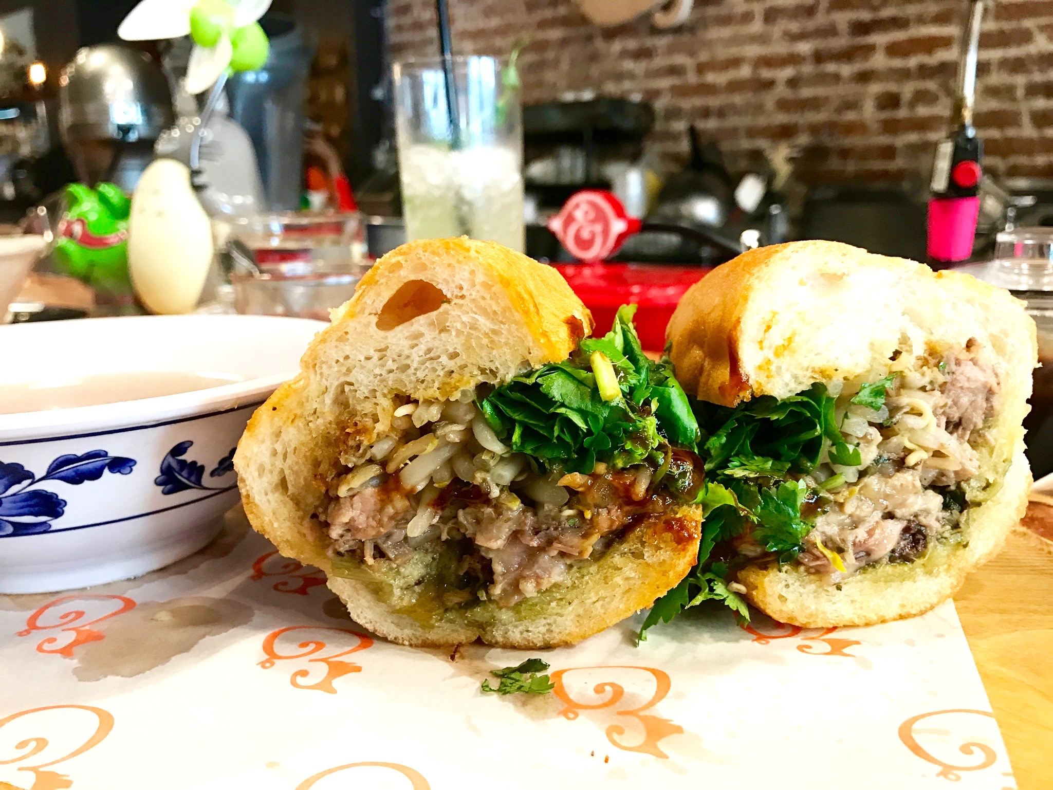 Yaaasss...this is what dreams are made of. Their incredible Beef Pho French Dip.