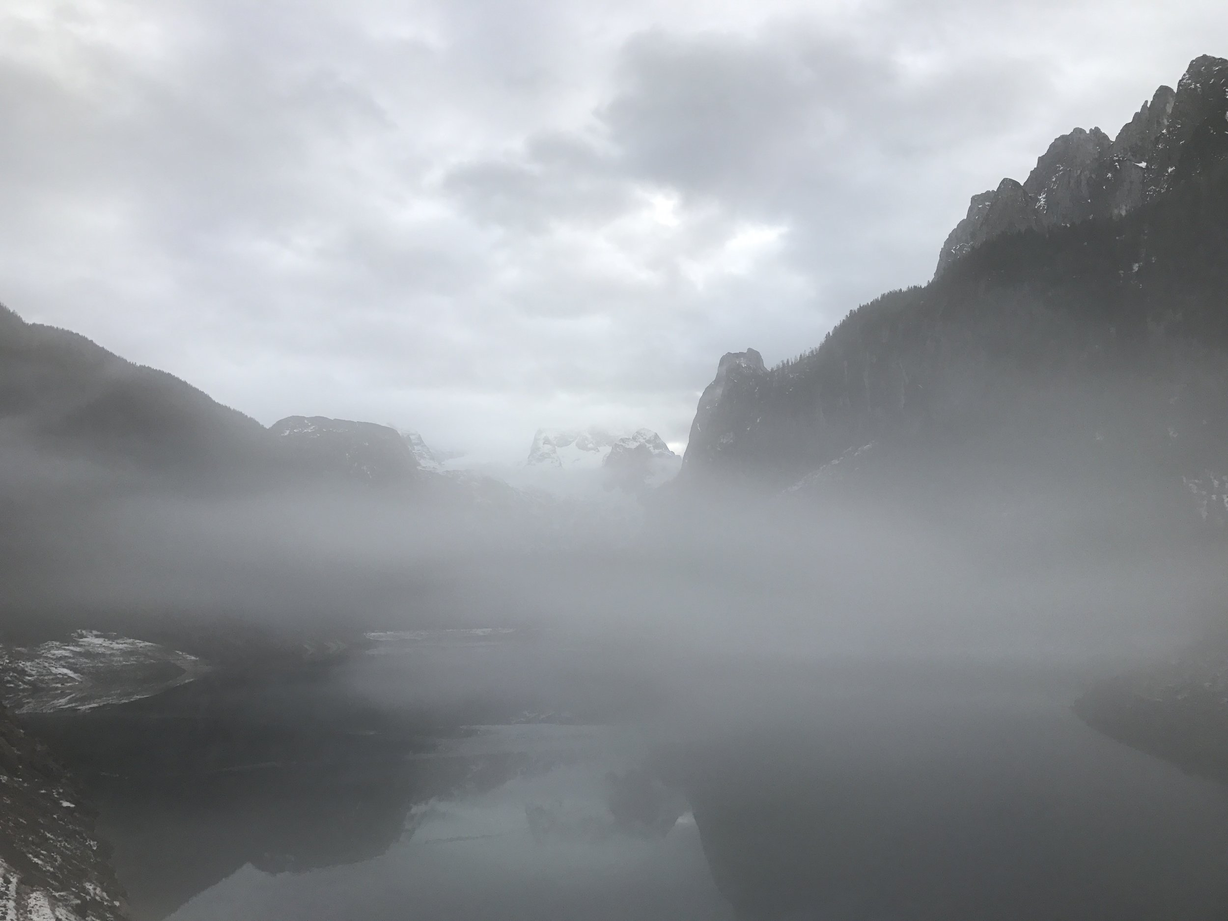 We couldn't quite see the mountainous glaciers due to low visibility but we tried.