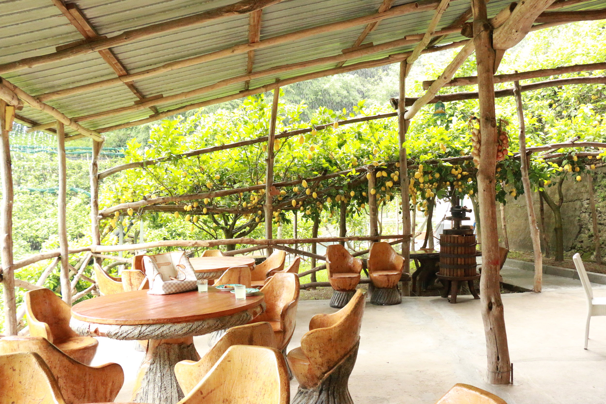 The beautiful dining area where we get to dine alfresco after we finish cooking our meal