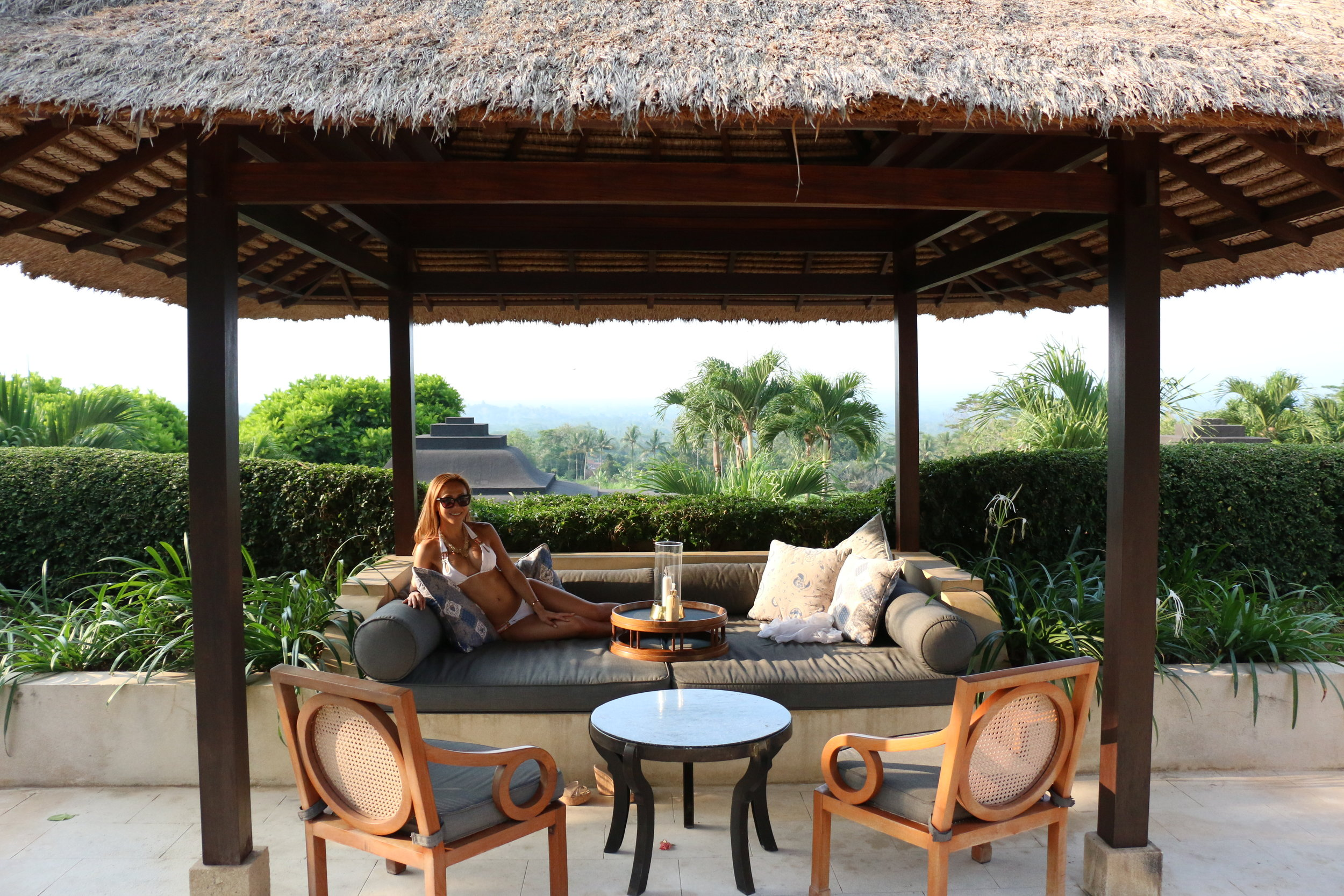 Each suite will open up to a private terrace like this one, where you will have a full lounger where you can lay on to read, relax, paint or enjoy a drink at. My favorite spot after a long day of sightseeing.