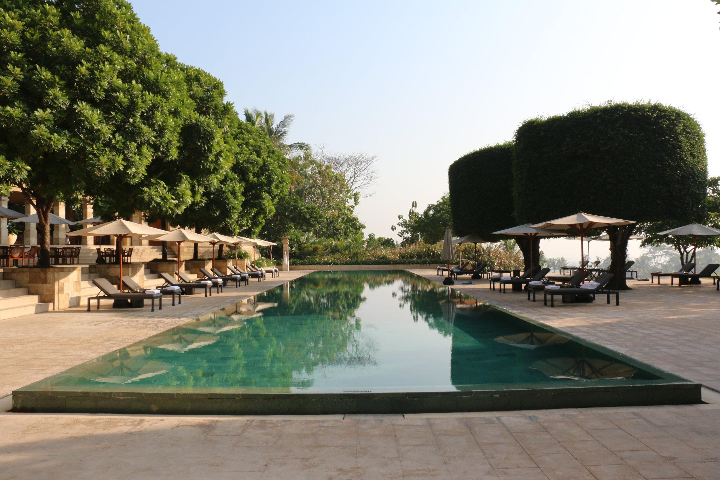 The main pool at Amanjiwo.