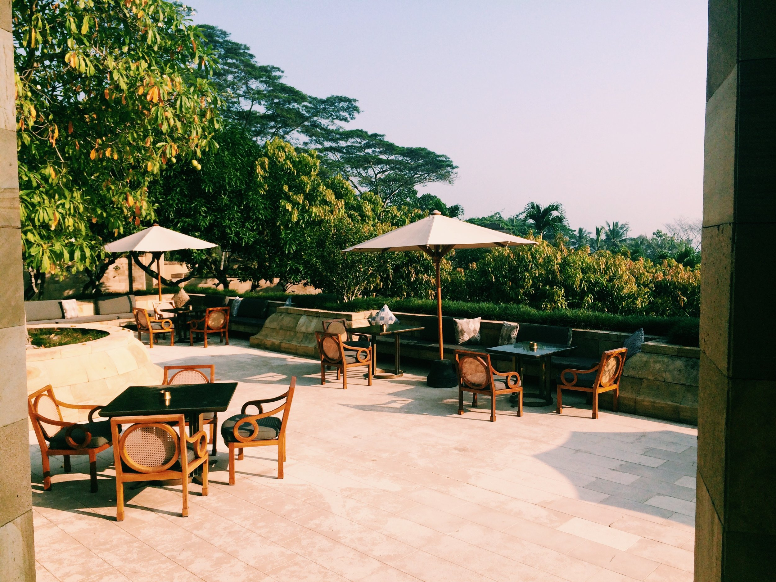 Catch the late afternoon sun outside in peace on the terrace while you are served freshly ground tea and Javanese Pastries.