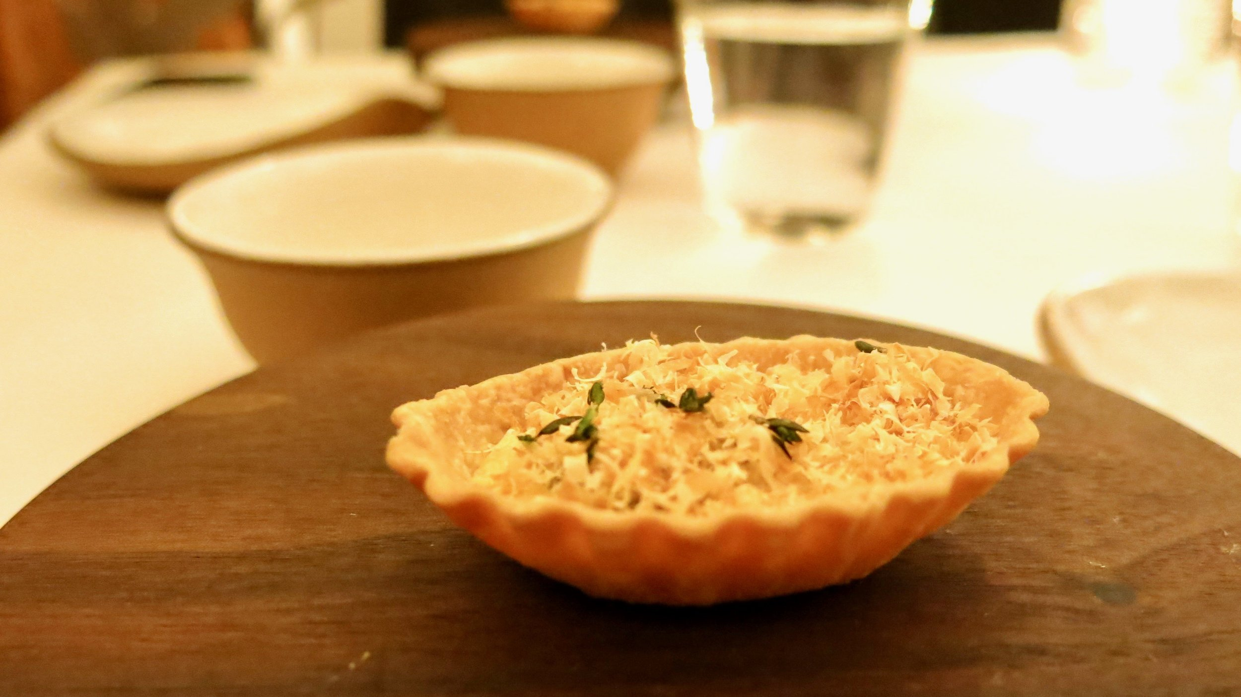 3rd Course - Oyster: Pie and Veloute (Outstanding Dish)