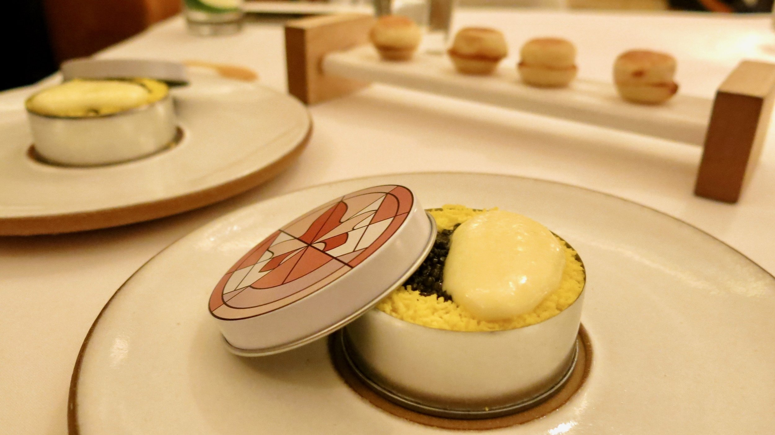 5th Course - Caviar: Benedict with Egg, Cauliflower and Ham (Outstanding Dish)