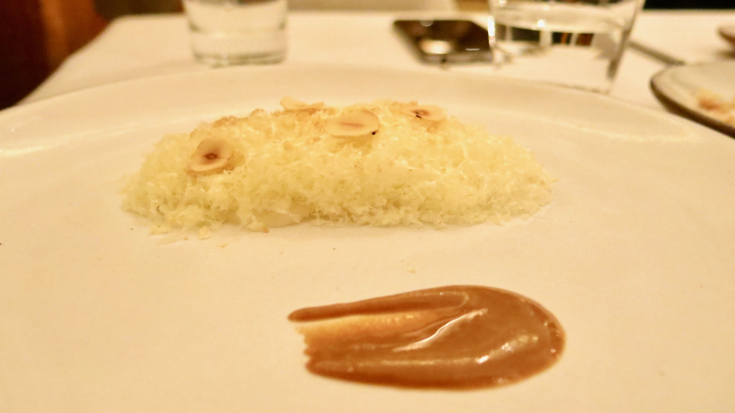 7th Course - Kohlrabi: Pear Salad with Cheddar and Hazelnut