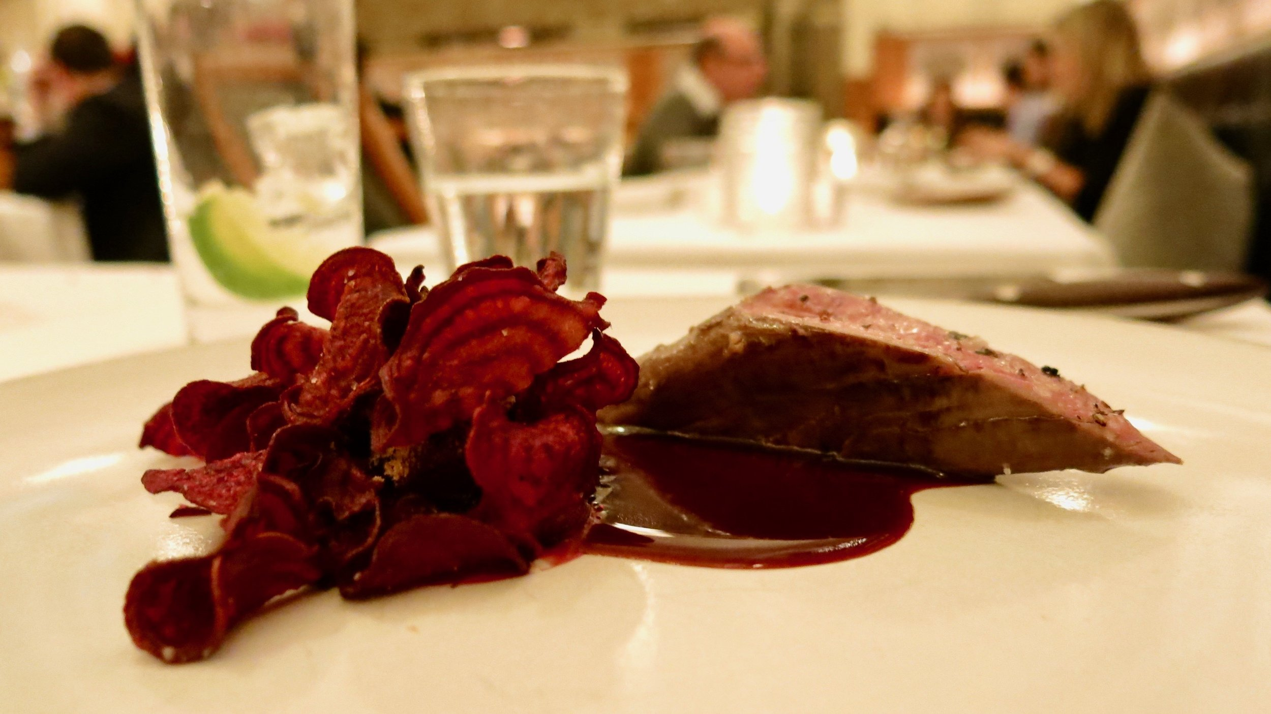 12th Course - Venison: Roasted with Beets and Onions