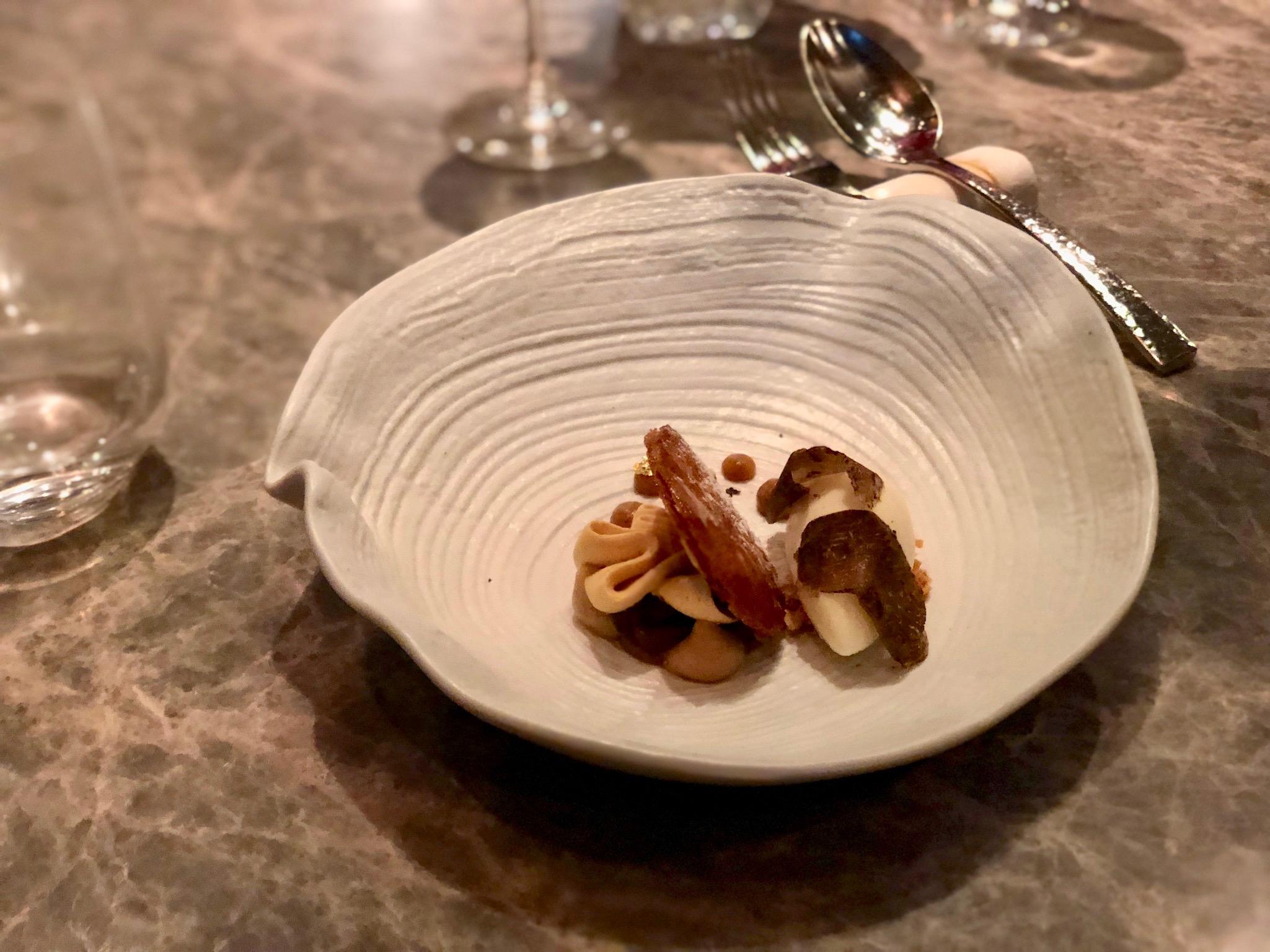 Ninth Course: Chinese Chestnut, Hokkaido milk, winter black truffle, jujube